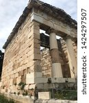 Small photo of ancient greek temple in the greek mountains