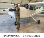 Attractive Airplane Pilot With...