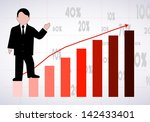 businessman the representing... | Shutterstock .eps vector #142433401