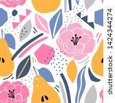 modern seamless pattern with... | Shutterstock .eps vector #1424344274