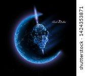 eid al adha greeting card ... | Shutterstock .eps vector #1424353871
