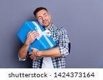 portrait of his he nice... | Shutterstock . vector #1424373164