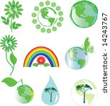 environmental symbols | Shutterstock . vector #14243767
