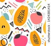 modern seamless pattern with... | Shutterstock .eps vector #1424381414