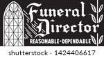 funeral director 3   retro ad... | Shutterstock .eps vector #1424406617