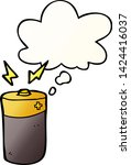 cartoon battery with thought... | Shutterstock .eps vector #1424416037
