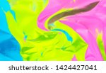 rainbow colored abstract... | Shutterstock . vector #1424427041