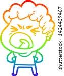 rainbow gradient line drawing... | Shutterstock .eps vector #1424439467