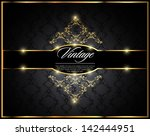 vintage seamless wallpaper with ... | Shutterstock .eps vector #142444951