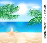 summer background illustration... | Shutterstock . vector #142446985