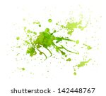Abstract Green Painting Splash...