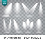 vector spotlight set. bright... | Shutterstock .eps vector #1424505221