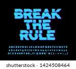 break the rule sticker font... | Shutterstock .eps vector #1424508464