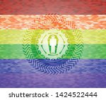dead man in his coffin icon on...   Shutterstock .eps vector #1424522444