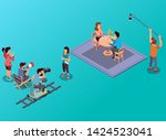 isometric vector illustration... | Shutterstock .eps vector #1424523041