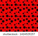 simple black dot pattern on a... | Shutterstock .eps vector #1424529257