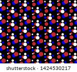 simple red  white and blue dot... | Shutterstock .eps vector #1424530217