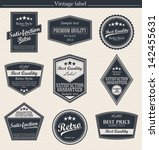 set of retro vintage badges and ... | Shutterstock .eps vector #142455631