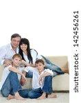 portrait of the european family ...   Shutterstock . vector #142456261