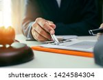 justice and law concept.male... | Shutterstock . vector #1424584304