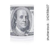 hundred dollar bill close up of ... | Shutterstock . vector #142458637