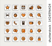 set of ecommerce icons in...