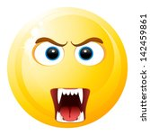 angry smiley icon | Shutterstock .eps vector #142459861