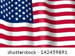 USA Flag vector 3d. American Symbol. 4th July. United States of America Independence Day background. EPS 10. - stock vector