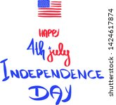 happy 4th july holiday usa... | Shutterstock .eps vector #1424617874