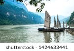docked sailboats and beautiful... | Shutterstock . vector #1424633441