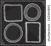 chalkboard style hand drawn... | Shutterstock .eps vector #142464841