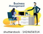 a man and a woman while dealing ... | Shutterstock .eps vector #1424656514