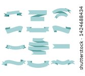 blue ribbon set inisolated... | Shutterstock .eps vector #1424688434