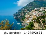 landscape of beach and colorful ... | Shutterstock . vector #1424692631