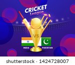 cricket league poster or banner ... | Shutterstock .eps vector #1424728007