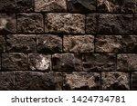 ancient wall texture. grunge... | Shutterstock . vector #1424734781