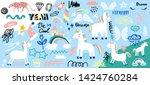 collection of handwritten... | Shutterstock .eps vector #1424760284