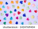 beautiful colored pebble hearts ... | Shutterstock . vector #1424769404