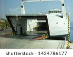 ferryboat ready to load... | Shutterstock . vector #1424786177