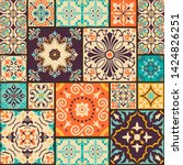 seamless colorful patchwork... | Shutterstock .eps vector #1424826251