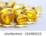 cod liver oil omega 3 gel... | Shutterstock . vector #142484215