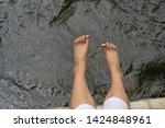 children feet playing in the...   Shutterstock . vector #1424848961