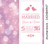 vector wedding invitation card... | Shutterstock .eps vector #142484947