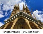 barcelona  catalonia  spain ...   Shutterstock . vector #1424855804