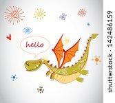 cartoon vector dragon | Shutterstock .eps vector #142486159