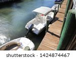 close up docked beautiful boats ... | Shutterstock . vector #1424874467