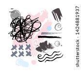 abstract poster pastel makeup... | Shutterstock .eps vector #1424881937
