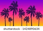 summer yellow violet background ... | Shutterstock .eps vector #1424890634