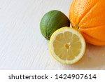 green juicy lime  orange and...   Shutterstock . vector #1424907614