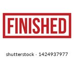 finished rubber stamp. red... | Shutterstock .eps vector #1424937977